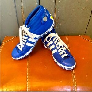 Adidas High Top Royal Blue Mid Top Canvas